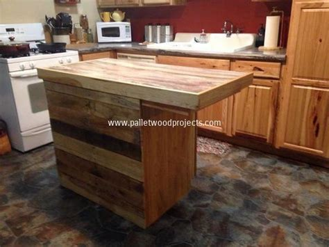 diy kitchen furniture recycled pallet kitchen island table ideas pallet wood projects