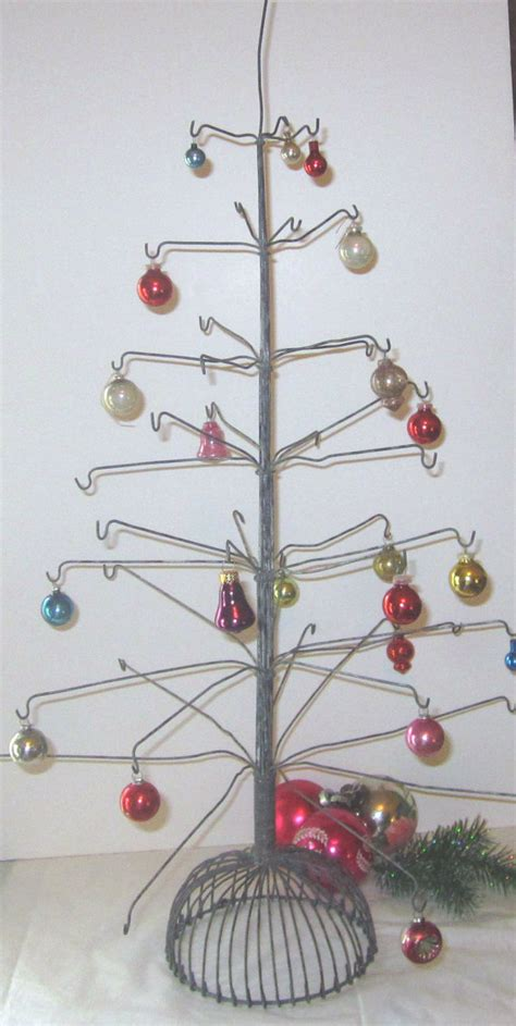 on reserve vintage wire christmas primitive ornament tree