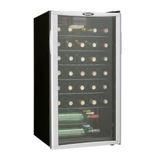 danby 35 bottle freestanding wine cooler dwc350blpa the