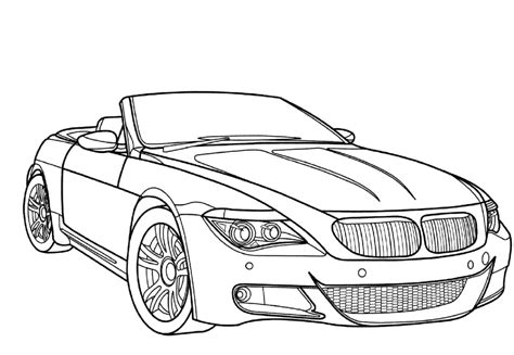 car driving coloring page racing car bmw m6 coloring page luhur hati