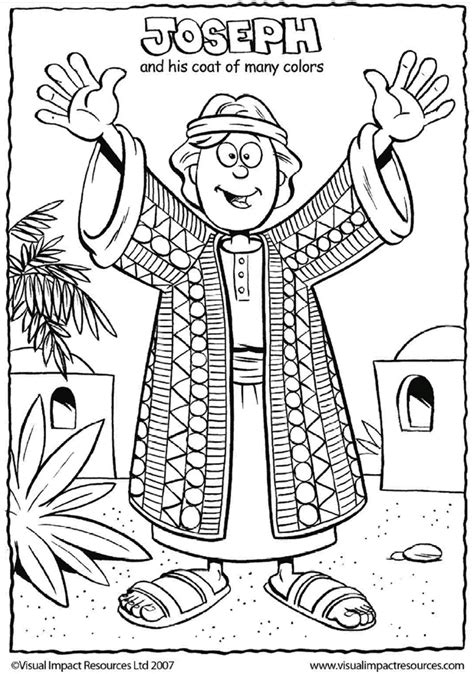 coloring pages of joseph story joseph and his coat coloring for sunday school church
