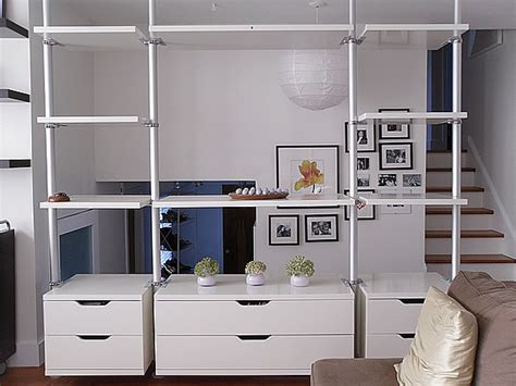 ikea stolmen stolmen as a room divider closet open