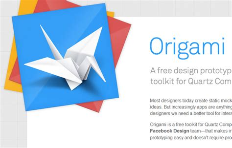 Origami Means - origami a free design prototype toolkit for quartz web