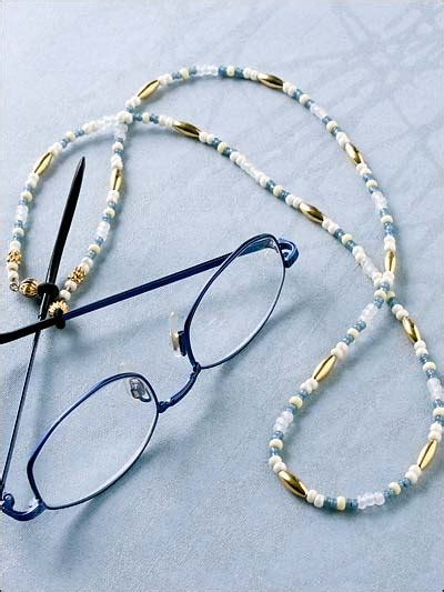 beading necklaces gold accents eyeglass chain