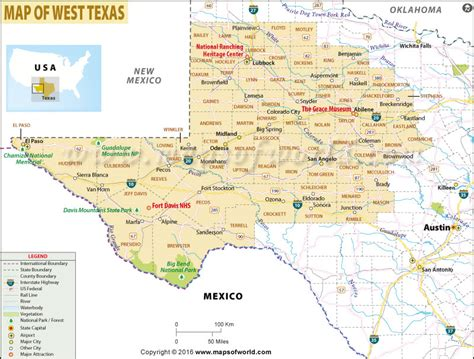 west texas cities map map of west texas west texas map