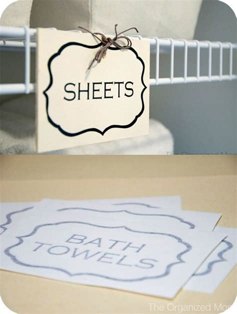 Closet Label by Linen Closet Labels Dreamy Organizing Ideas