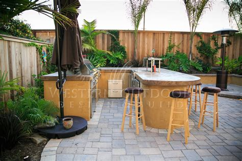 bbq outdoor kitchen islands san diego landscaper western outdoor design build bbq