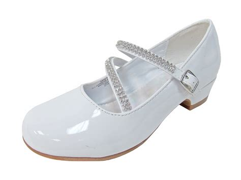 dress slippers white patent low heel dress shoe with rhinestone straps