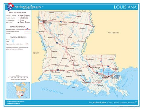 map of louisiana usa large detailed map of louisiana state louisiana state