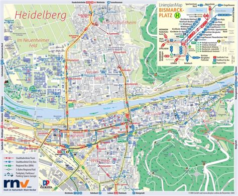 germany tourist attractions map heidelberg tourist map