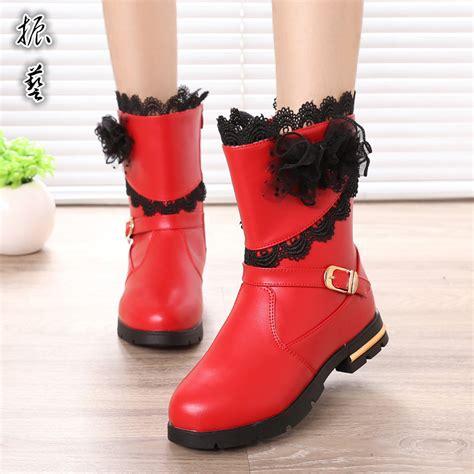 2016 korean bow high shoes wholesale children shoes