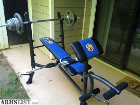 armslist for sale weight lifting bench with 110 lbs of
