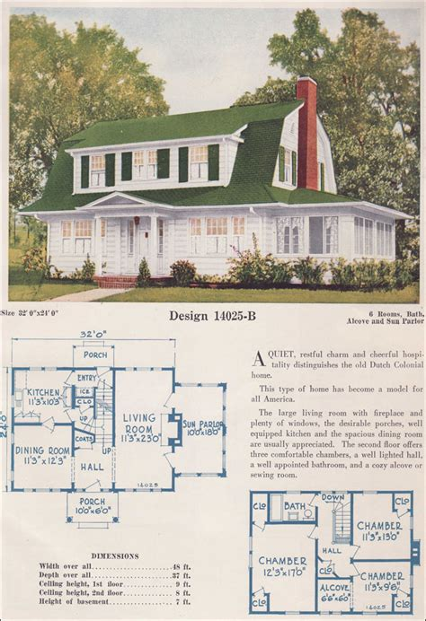 dutch style house plans 1925 c l bowes co catalog dutch colonial side gable