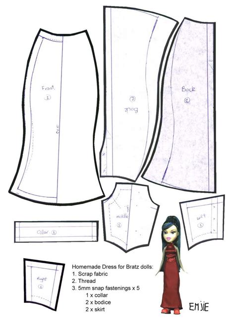 printable wedding dress pattern doll dress patterns for