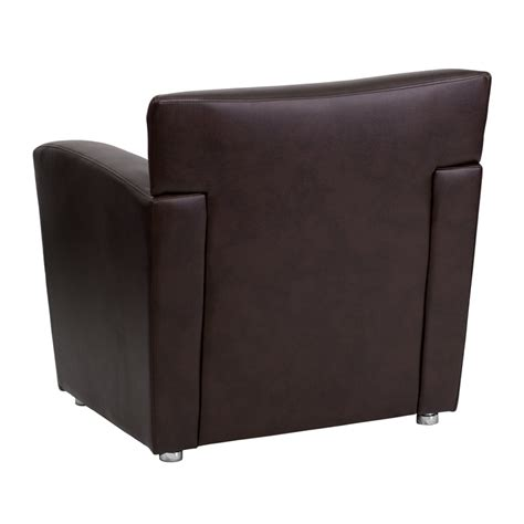 Commercial Grade Brown Leather Chair Quick Ship Bar