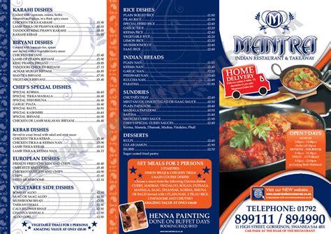 layout of multi cuisine restaurant design portfolio menu printing uk