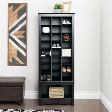 shoe storage cabinet black prepac black shoe cubbie cabinet the home depot canada