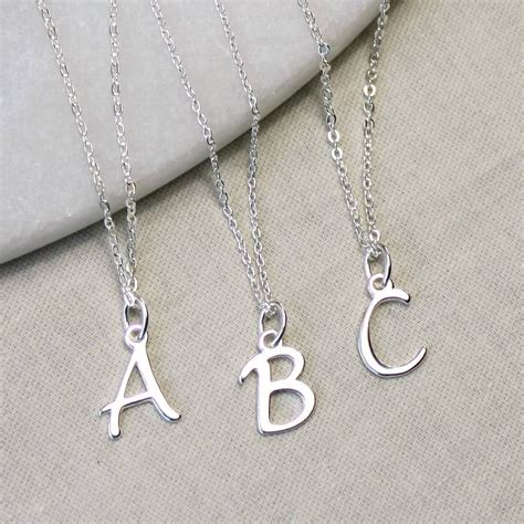 Letter Necklace Silver sterling silver initial necklace by completely charmed