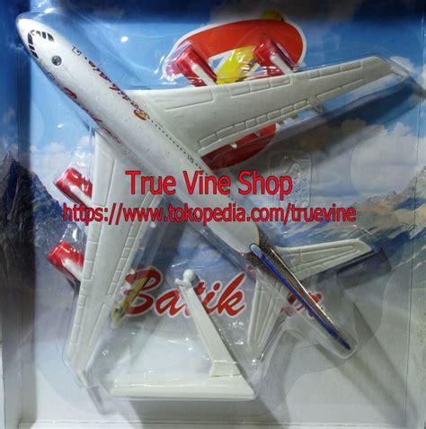 jual die cast diecast pesawat terbang batik air true vine shop