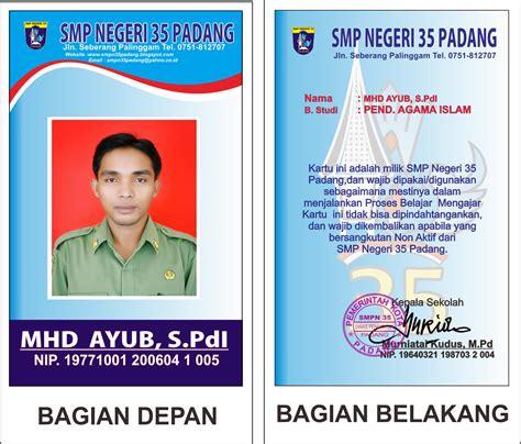 ukuran desain id card hasil desain id card sekolah guru ceritas