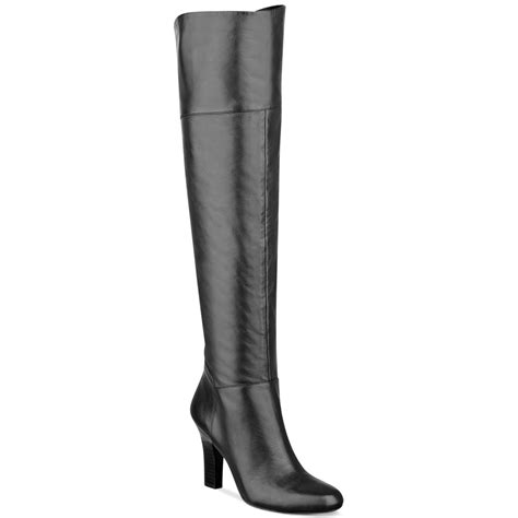 guess the knee boots guess rumella the knee boots in black black leather