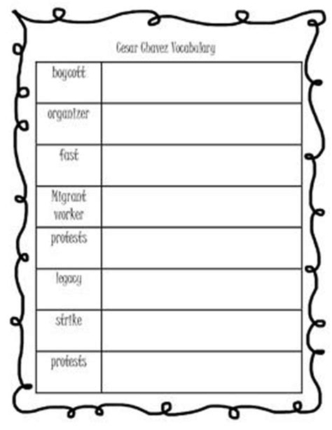 Cesar Chavez Worksheet by 17 Best Images About Cesar Chavez On Fields
