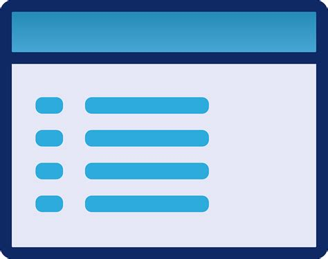 free vector graphic menu gui interface template ui
