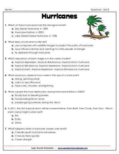 hurricane worksheet answers hurricane worksheets defendusinbattleblog