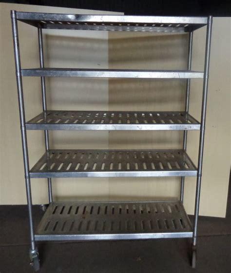 4 stainless shelf shelving rack rolling restaurant