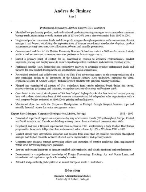 VP Sales & Business Development Resume