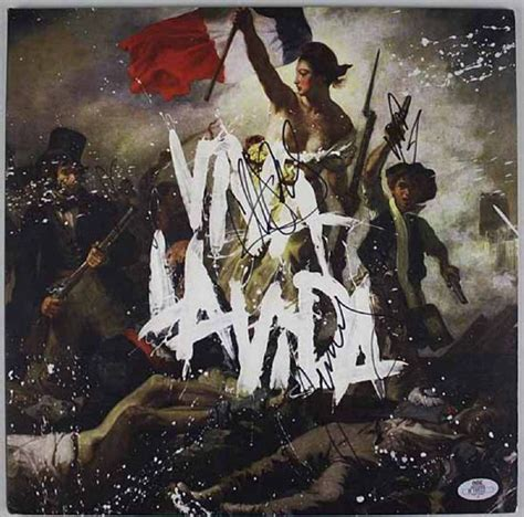 coldplay viva la vida album lot detail coldplay group signed album quot viva la vida quot
