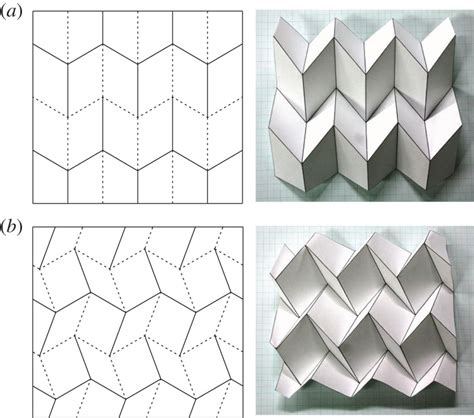 Origami Pattern - self deploying origami with misalignment proceedings of