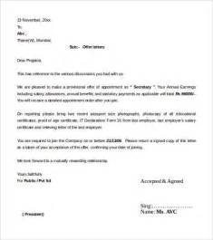 Offer Letter Template   54  Free Word, PDF Format   Free