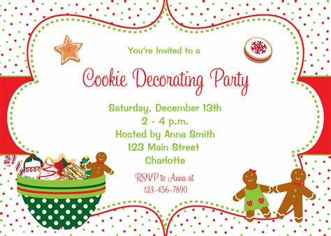 Unique Kitchen Sink Ideas by Christmas Cookie Invitations Christmas Lights Decoration