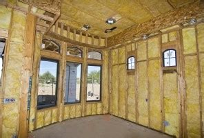 Internal glasswool wall insulation between battens