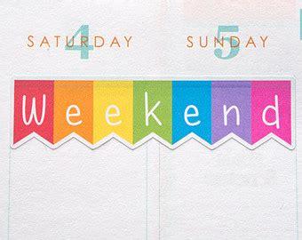 printable weekend planner stickers 6 best images of free erin condren weekend banner planner