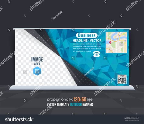 advertising layout elements vector blue colors geometric elements outdoor stock vector