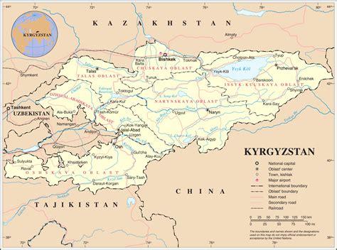 kyrgyzstan map kyrgyzstan destination guide triporati