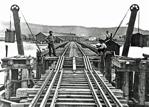what is a pontoon bridge the milwaukee road s floating pontoon railroad bridge