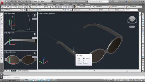 autocad 3d autocad 3d modeling glasses cad forum discussion en