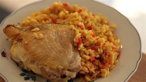 arroz con pollo rice w chicken recipe kin eats youtube
