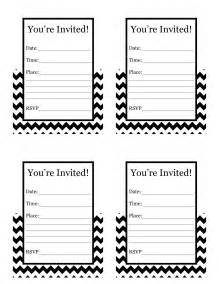 happy friday free printable chevron invitation