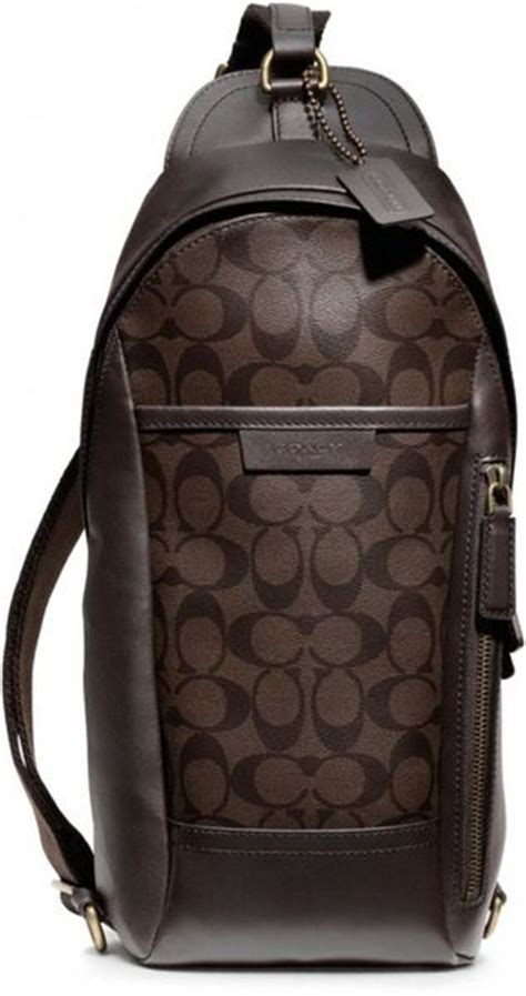 Coach Sling Bag Mahogany coach bleecker signature convertible sling pack in brown for b4 mahogany brown lyst