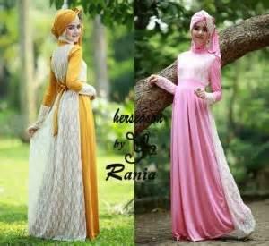 Baju Atasan Gamis Hijaber Rania Batwing Fashione Baju Gamis Pesta Brokat Rania Busana Muslim Pesta Murah