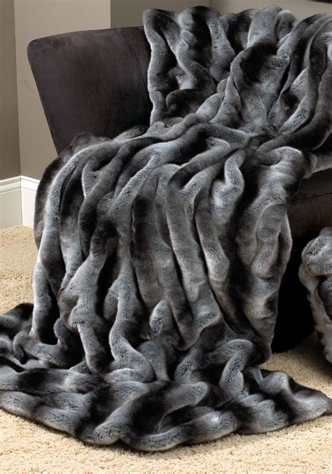 luxury faux fur blanket homesfeed