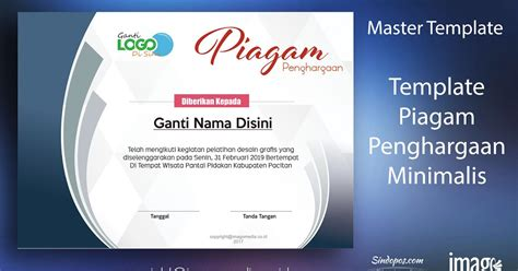 layout majalah cdr download template piagam penghargaan minimalis imago media