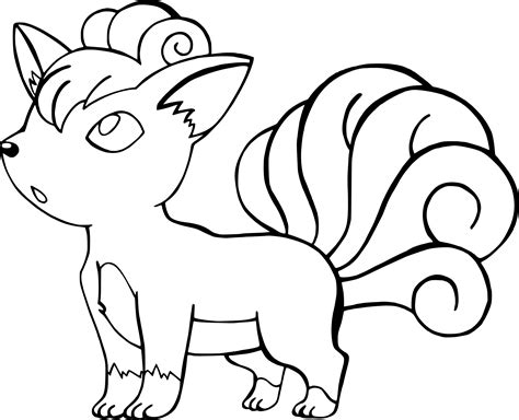 pokemon vulpix coloring page