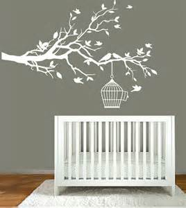 Nursery Tree Stickers For Walls Vinyl Wall Decals Nursery White Tree Branch By Modernwalldecal