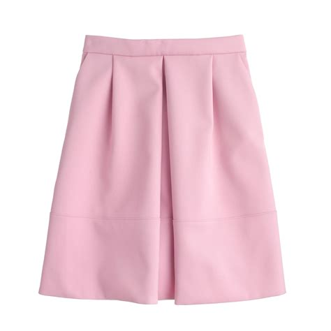 j crew pleat front mini skirt in pink lyst