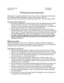 Graduate Application Essay Sle by Personal Statement Format